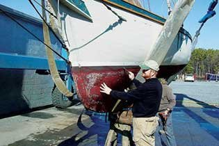 Photo of a boat inspection