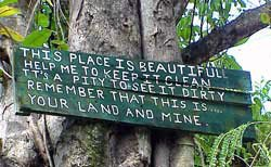 Photo of biosphere reserve sign