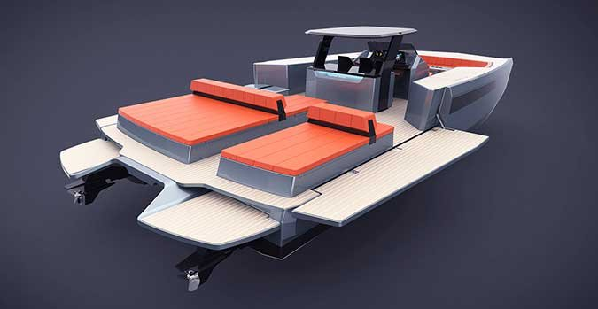 Sunreef power catamaran rendering