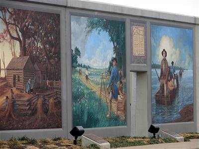 photo of floodwall murals in Paducah, Kentucky