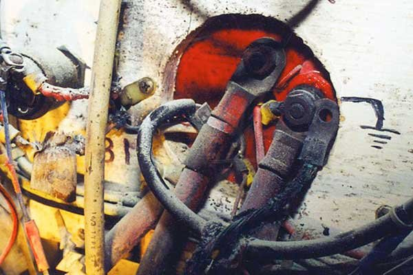Fire in boat electrical panel
