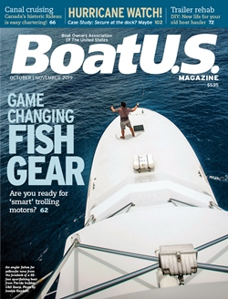 Fishing cover of the October - November Issue of BoatUS  Magazine