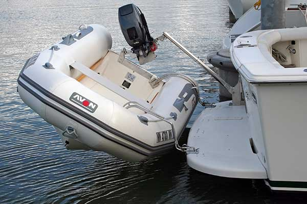 Dealing with Dinghy Davits   BoatUSBoatUS
