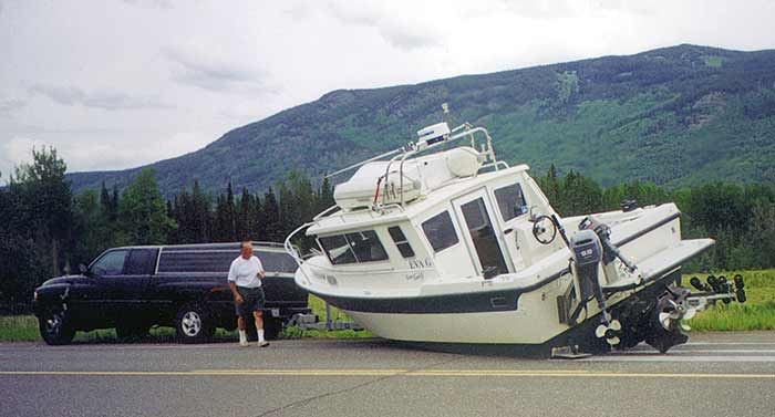 Trailered boat accident