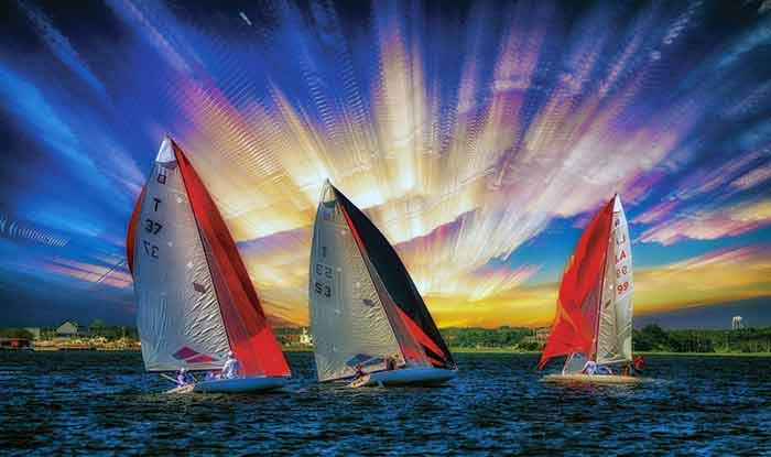 Artistic Finalist, The Beauty of Sailing by Dustin Gabriel