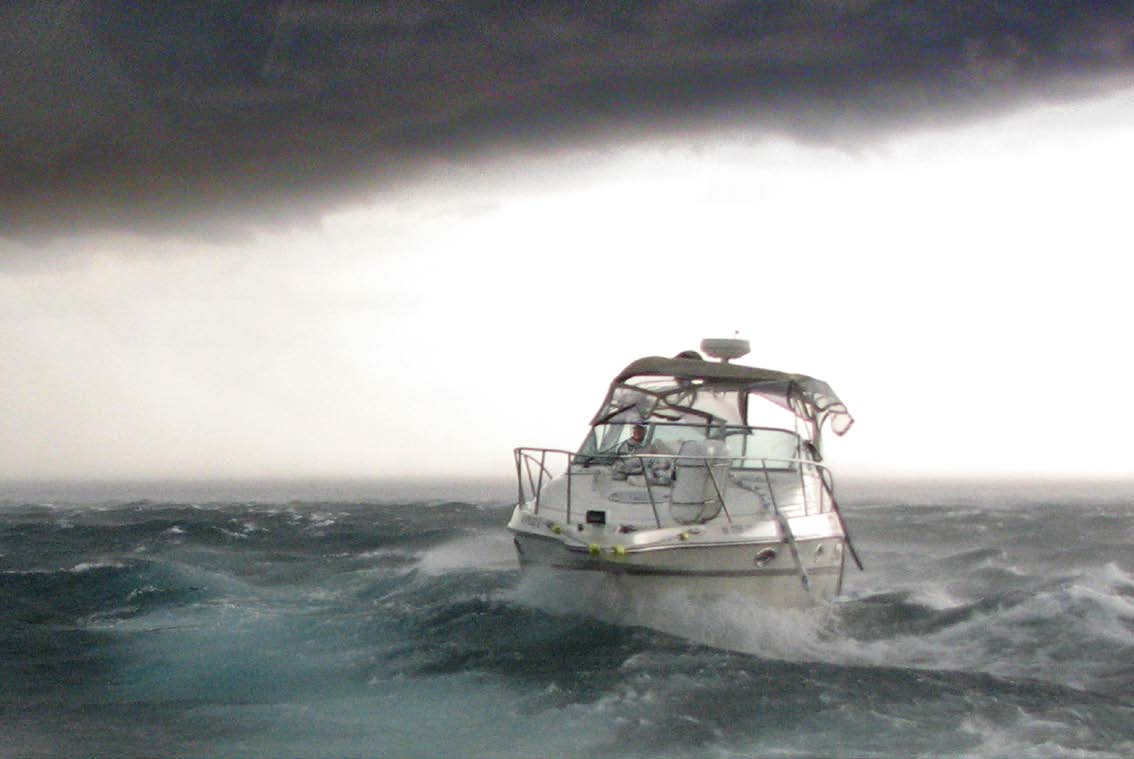 Boat in Rough Weather