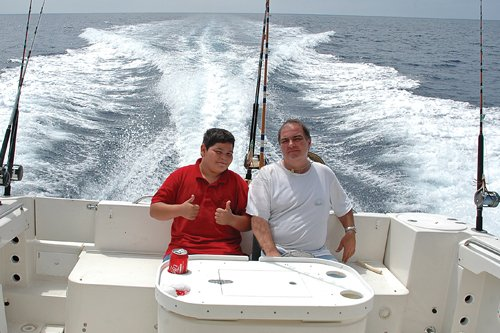 Dan Richter and Son on Boat