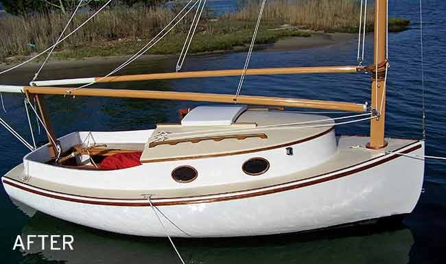 Cathern Catboat after restoration photo
