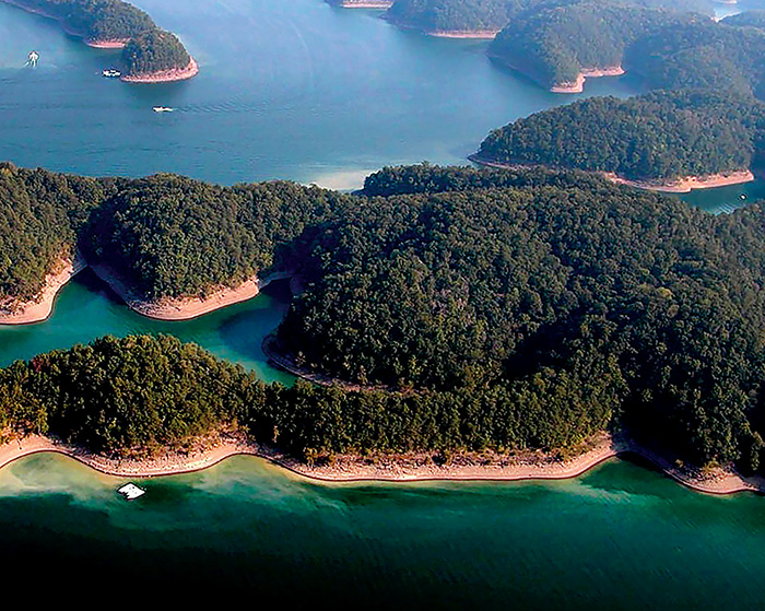 Aerial Photo of Lake Cumberland Landmass