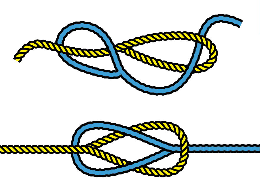 Illustration of joining polyester line