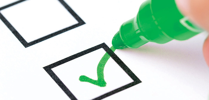 Green Marker Checking Checklist Checkbox