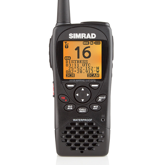 VHF radio with GPS