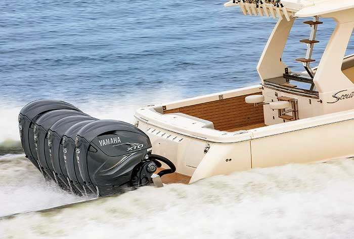 Yamaha outboards running