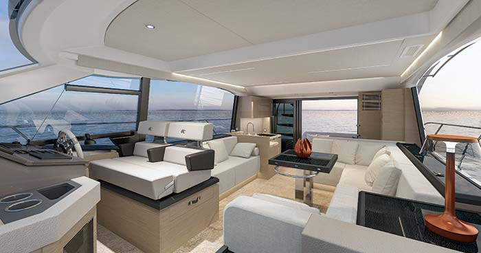 Beneteau Monte Carlo 52 salon and galley