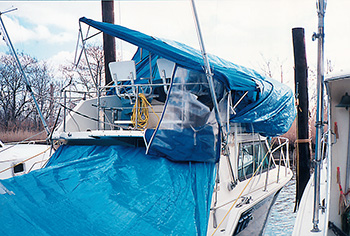 Destroyed flybridge caused by incorrect winterizing