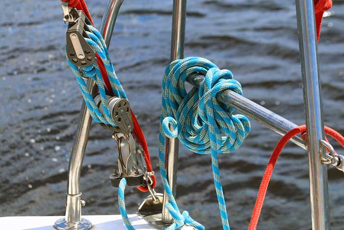 Sailboat ropes