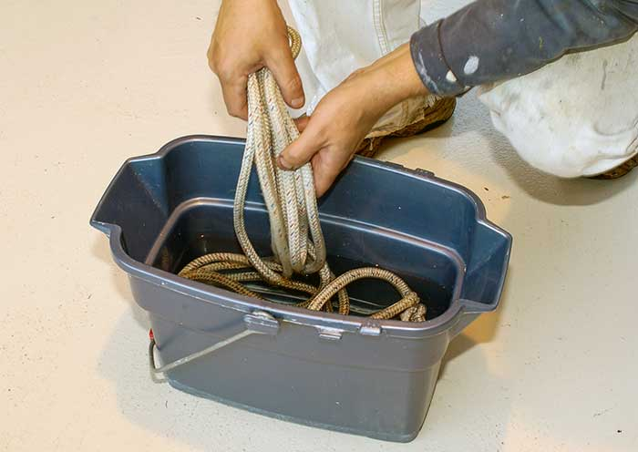 Washi ropes in bucket