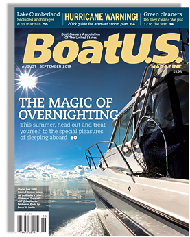 Runabout cover of the August - September 2019 Issue of BoatUS Boating Association Magazine