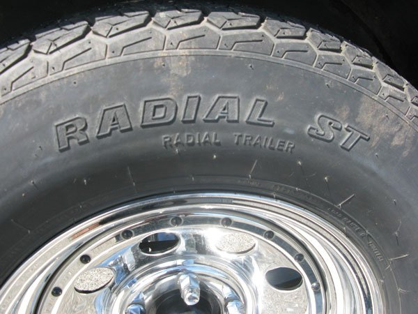 Photo of a trailer use only tire