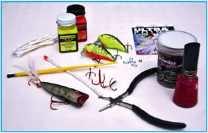 Supplies for painting old lures