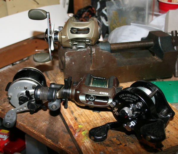 Photo of used fishing reels