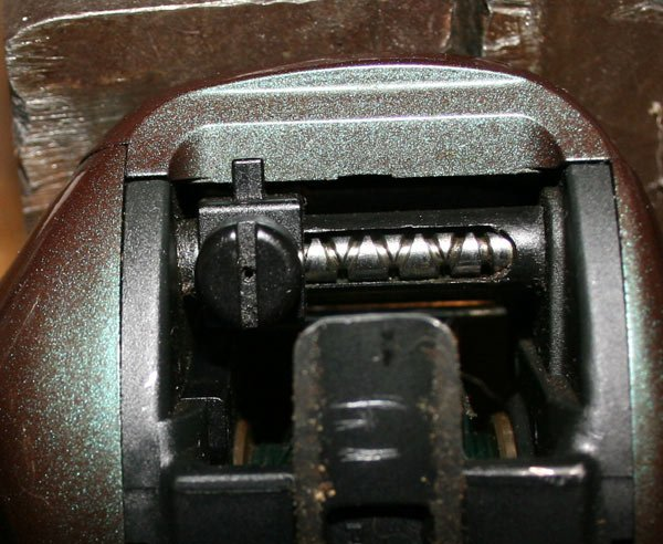 Photo of a fishing reel worm gear