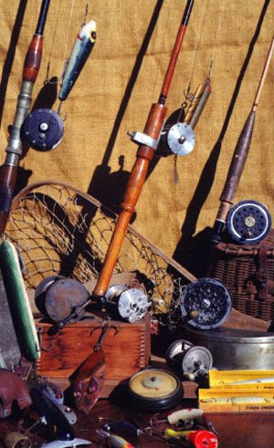 Photo of antique rods and reels