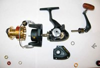 Fishing reel exploded view