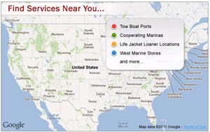 Screenshot of Member Services Locator
