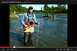 Chris Edmonston talks about river fishing safety