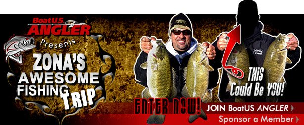 Mark zona 39 s awsome fishing trip contests boatus angler for Zona s awesome fishing show