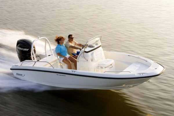 Photo of a center console boat a Boston Whaler 170