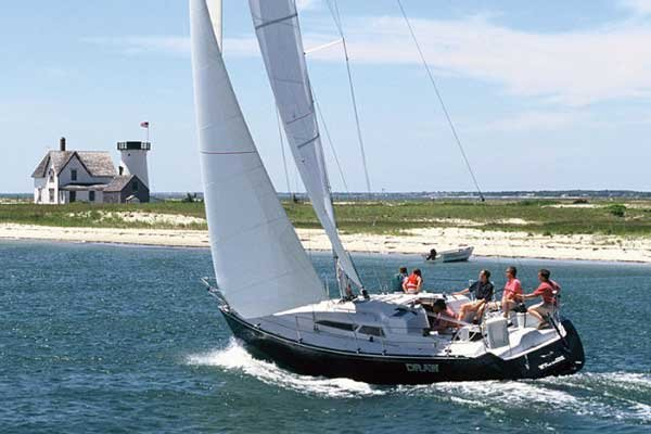 Photo of a Racing Sailboat - C and C Yacht 110 Racing