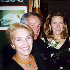 Photo of Doris and Steve Colgate with Bernadette