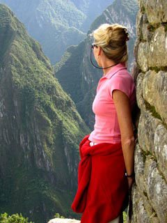 Photo of Bernadette at Machu Picchu