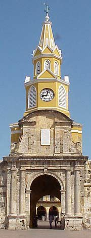 Photo of the Cartagena clock tower entrance