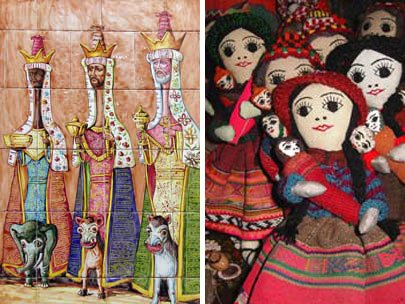 Photo of Cuzco tile and dolls