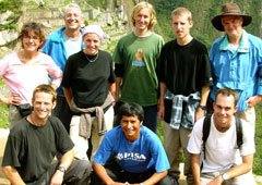 Photo of the group of trekkers to Machu Picchu
