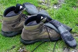 Photo of a pair of hiking boots