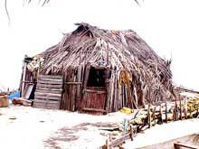 Photo of a Kuna cooking hut