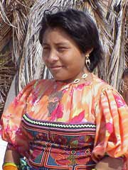 Photo of a Kuna indian woman