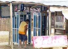 Photo of Nargana's public phones that don't work
