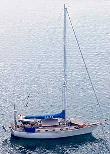 Photo of Ithaka at secluded anchorage