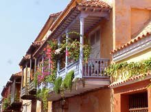Photo of verandas overlooking a Cartagena street