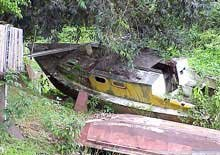 Photo of an abandoned boat