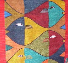 Abstract painting of fishes