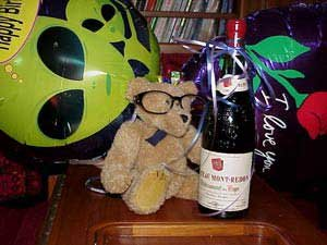 Photo of Douglas's birthday balloons and libations