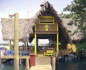 Photo of bar and office at Tortugla marina