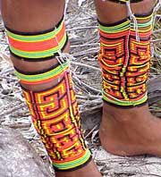 Photo of colorful beaded anklets