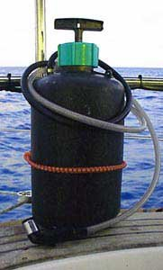 Photo of black 5 gallon garden sprayer